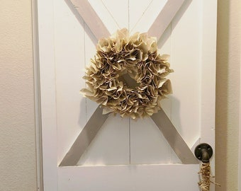 """Handmade vintage book wreath approx. size 13"""""""