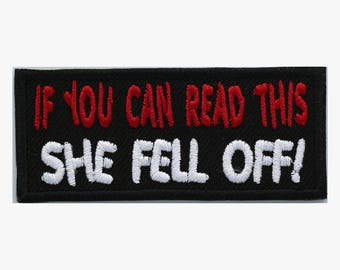 She fell off embroidery patch