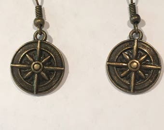 Compass earrings
