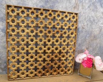 19 x 19 Cast Iron Ornamental Grate Decorative Panel Architectural Salvage c, Register Cover, Architectural Salvage Grate, Vent