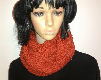 Double orange brick scarf
