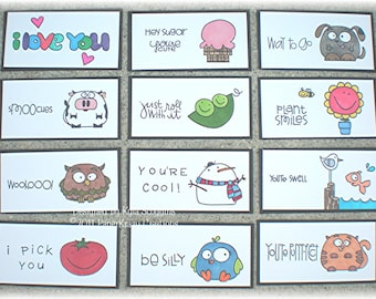 Lunch Box Love Notes Series 8a, Lunch Notes for Kids, Lunch Box Notes