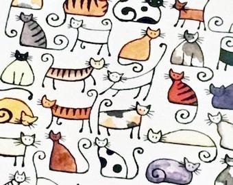 50 Cats - A4 art print