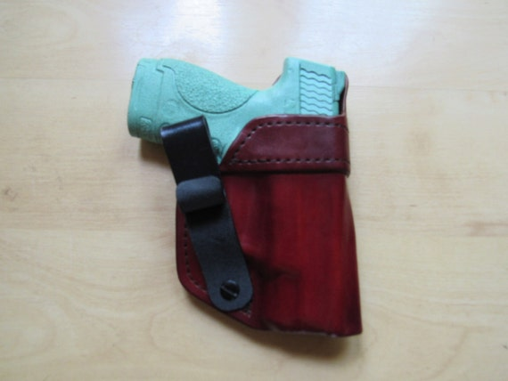 Leather Holster custom crafted from premium leather for S&W Shield and EDC, IWB
