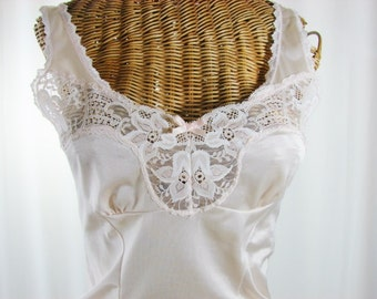 Ashley Taylor Vintage Blush Pink Camisole Lace Bodice Unworn Small