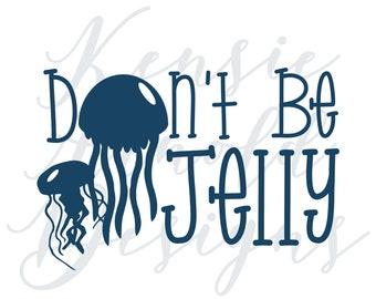 Don't Be Jelly Monogram Addition for Dog Bandana - Matte, Glitter & HOLO Options