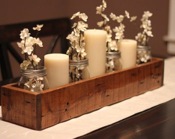 Rustic Table Centerpiece, Wooden Box, Farm Box, Garden Storage, Wooden Planter