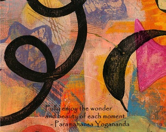Fully Enjoy the Wonder -048-Mixed Media Painting by Carianne James
