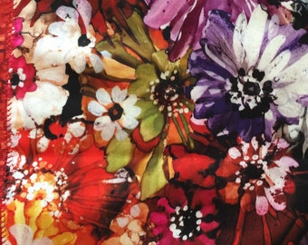 4 Mini Snack Mats, Mug Rugs, Coffee Coasters, Wine Mats, Multi Colored Floral, Linens, Cotton, Hawaiian , Outdoor Living, Lanai Mats 8x10