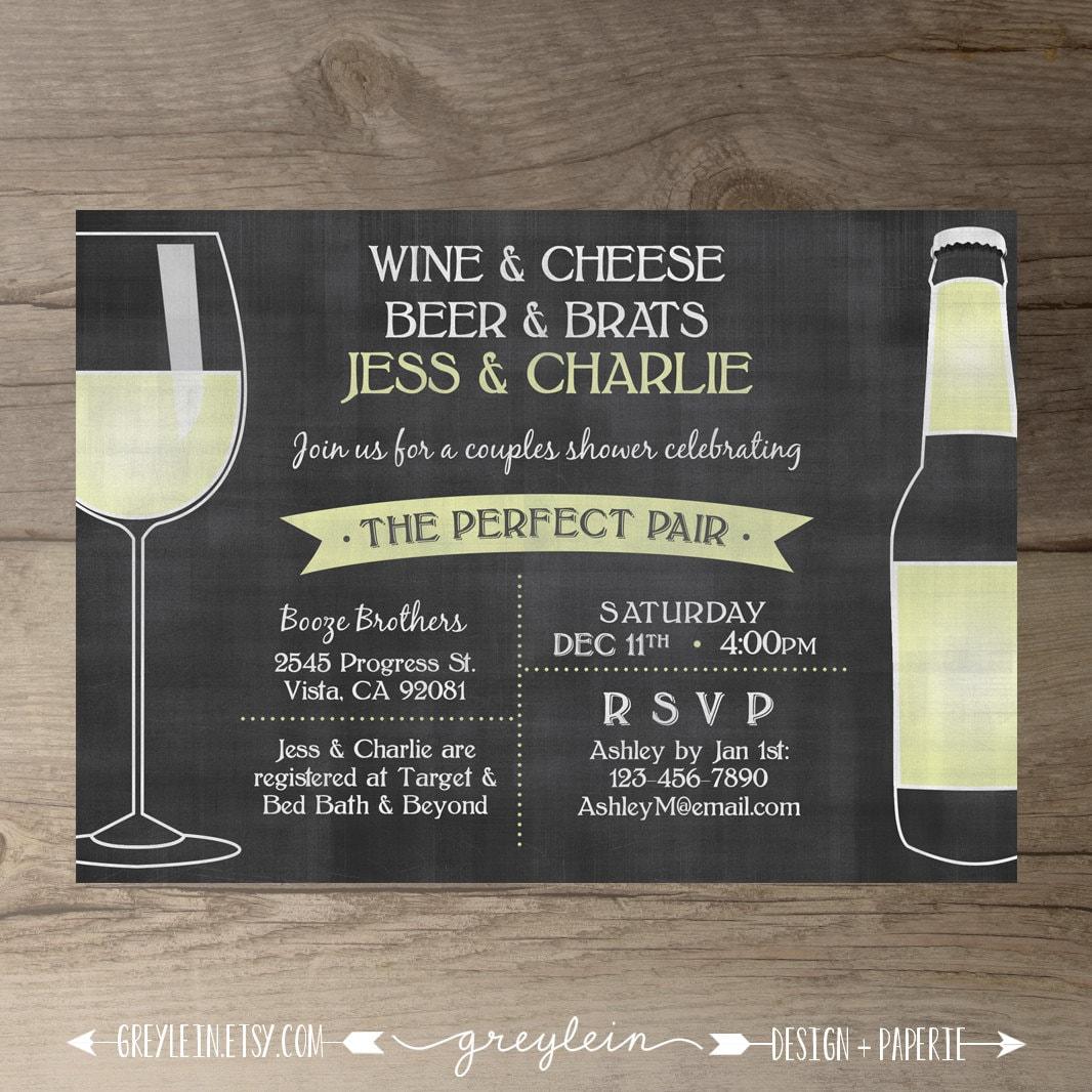 Perfect Pair Invitations Chalkboard Invites Engagement
