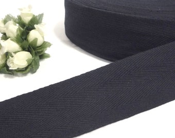 10 yds  Black Cotton Twill Tape (2 Arrow)  Wrapping Binding Tape Bias Tape  1-3/4 inch 45mm width TR21