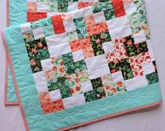 Handmade quilt for sale, seaside quilt, patchwork quilt, baby quilt