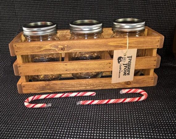 Mason Jar Wood Crate Box ...