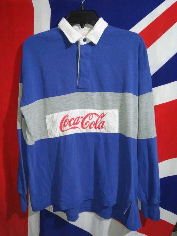Rare Vintage Polo 1980s COLA Rugby COCA Longsleeves Shirt Original 8WArgcq8
