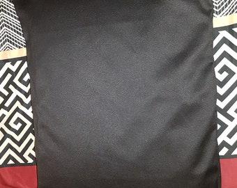 Handmade Black Satin Pillowcase