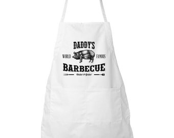 Fathers Day - Apron - Daddy's Barbecue - Father's Day - Gifts For Dad - BBQ - Gift Ideas - Fathers Day Gifts
