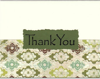 Evergreen Thank You Notes - Set of TEN