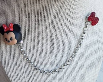 Minnie Mouse Sweater/Collar pins