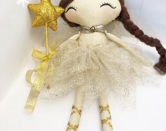 Handmade doll / rag doll / heirloom doll / cloth doll / fabric doll