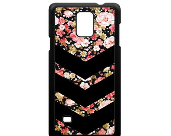 Phone Case Chevron Floral Pattern for Samsung Galaxy Note 3, Samsung Galaxy Note 4 and Samsung Galaxy Note 5