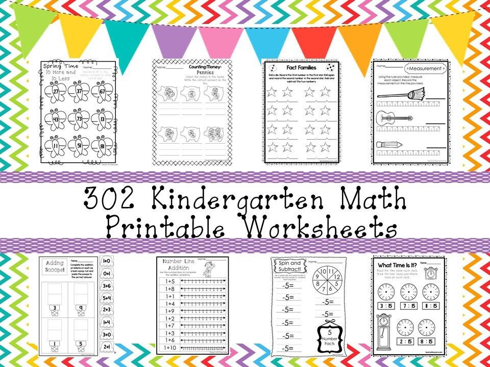 302 Kindergarten Mathematik Arbeitsblätter herunterladen.