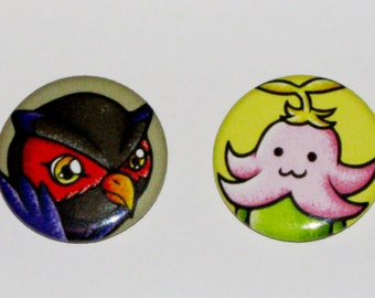 Digimon Savers 1 inch Button Set