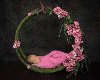 Handmade Newborn Moss Swing For Photography Prop