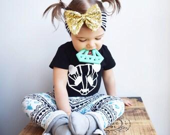 Baby Turban Headband, Gold Bow Headband, Baby Headbands, Infant Turban