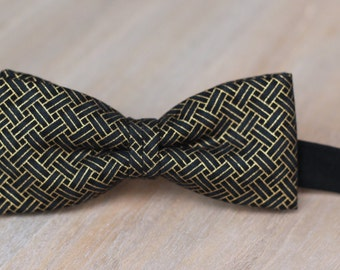 Bow 83. Ketu. Pajarita hecha a mano con tela de algodón de gran calidad.