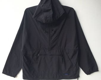 LL Bean Anorak Large Black Color Hoodie