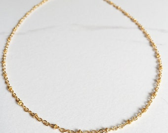 Gold Satellite Necklace, Delicate, Simple, Layering Necklace