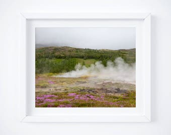 Iceland geyser print - Landscape photography - Iceland photos - Large wall art - Nature print - Fine art photography -  Geysir photo prints