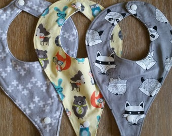 Dummy Bibs. available as set of 3 or on own.