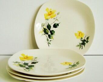 Set of 4 Midwinter Stylecraft 'golden glory' side plates Staffordshire
