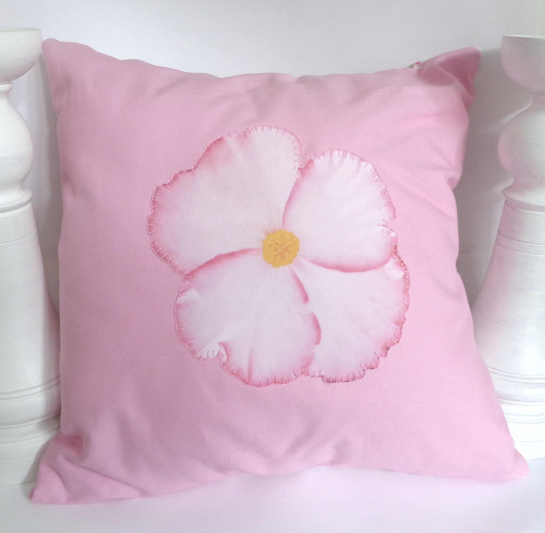 Pink Begonia Flower Cushion