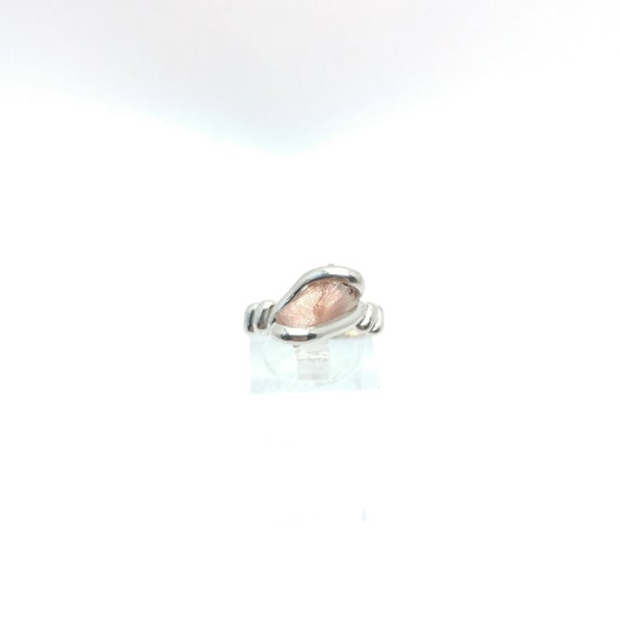 Oregon Sunstone Ring | Raw Crystal Ring | Raw Sunstone Ring | Sterling Silver Ring Sz 6.25 | Pink Crystal Ring | Raw Stone Ring
