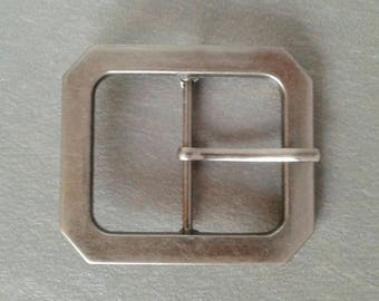 Octagonal metal belt buckle passage of 3.8 cm