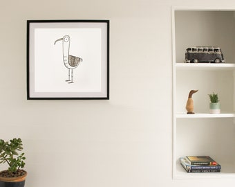 Original Personalized Ink Drawing - Dunlin Illustration