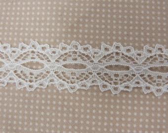 White wide lace