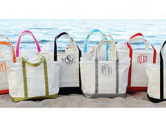 Monogrammed Large Boat Tote