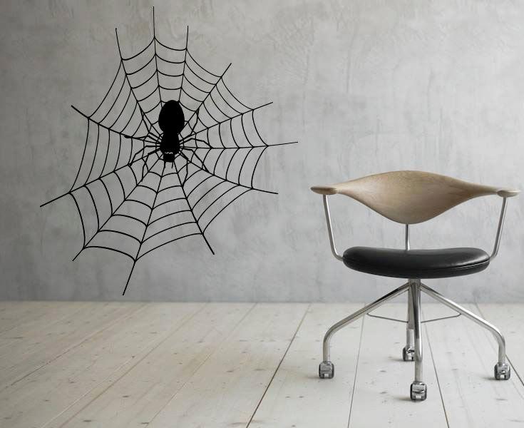 Araña Web pared vinilo calcomanía telaraña pared pegatina arte