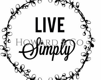 Live Simply Vinyl Sticker