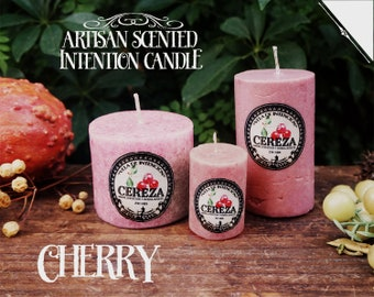 Cherry Intention Candle* - Artisan Scented Candle for Love, Divination & Good Luck