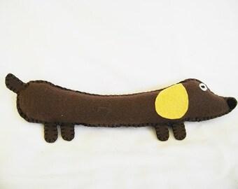 Dachshund Dog, Felt Dachshund Toy, Stuffed Animal, Dachshund Felt Puppy