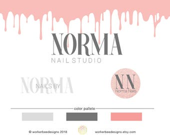 Nail Shop Logo Design - Nail Salon - Premade Logo Design -Nail Salon Logo Design - Customized Business Logo - Nail Blog
