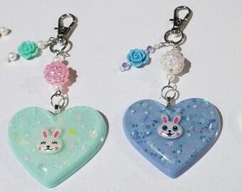 Bunny & Chick Keychain