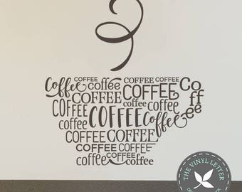 Coffee Subway Kitchen | Vinyl Wall Home Decor Decal Sticker