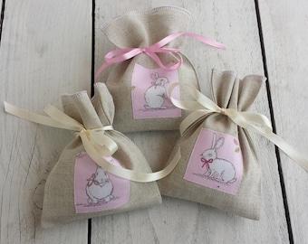 Bunny gift bags, set of 3