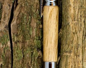 Bolt Action Bullet Pen in Chrome and Oak