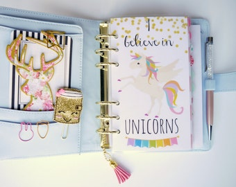 I Believe In Unicorns Personal, A5, A6, B6 and Pocket Size Planner Dashboards